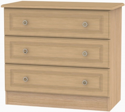 Pembroke Light Oak Chest of Drawer - 3 Drawer