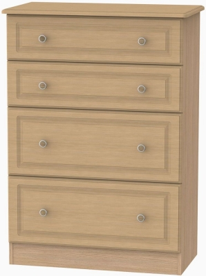 Pembroke Light Oak Chest of Drawer - 4 Drawer Deep
