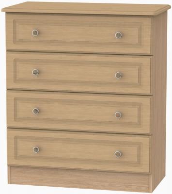 Pembroke Light Oak Chest of Drawer - 4 Drawer