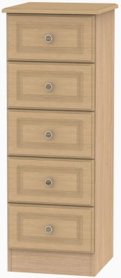 Pembroke Light Oak Chest of Drawer - 5 Drawer Locker