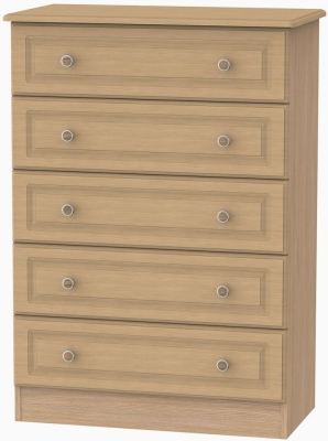 Pembroke Light Oak Chest of Drawer - 5 Drawer