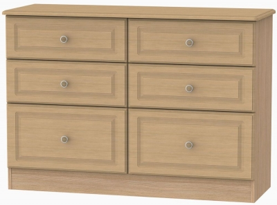 Pembroke Light Oak Chest of Drawer - 6 Drawer Midi