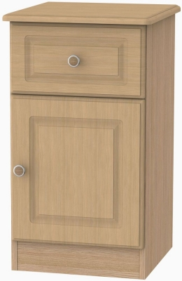 Pembroke Oak 1 Door 1 Drawer Bedside Cabinet Right Hand Side