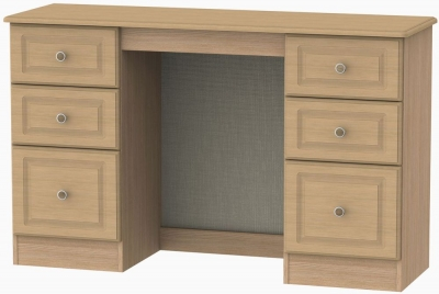 Pembroke Light Oak Dressing Table - Knee Hole Double Pedestal