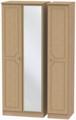 Pembroke Light Oak Triple Wardrobe - Tall with Mirror