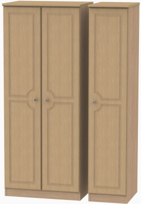 Pembroke Light Oak Triple Wardrobe with Plain