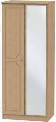 Pembroke Light Oak Wardrobe - 2ft 6in with Mirror