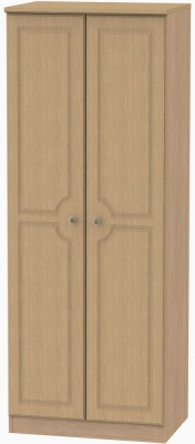 Pembroke Light Oak Wardrobe - Tall 2ft 6in with Plain