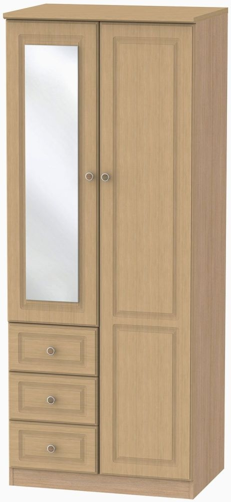 Pembroke Light Oak 2 Door 3 Drawer Combination Wardrobe