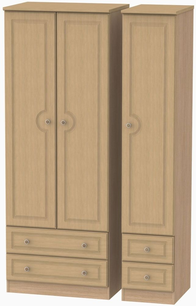Pembroke Oak 3 Door 4 Drawer Tall Wardrobe
