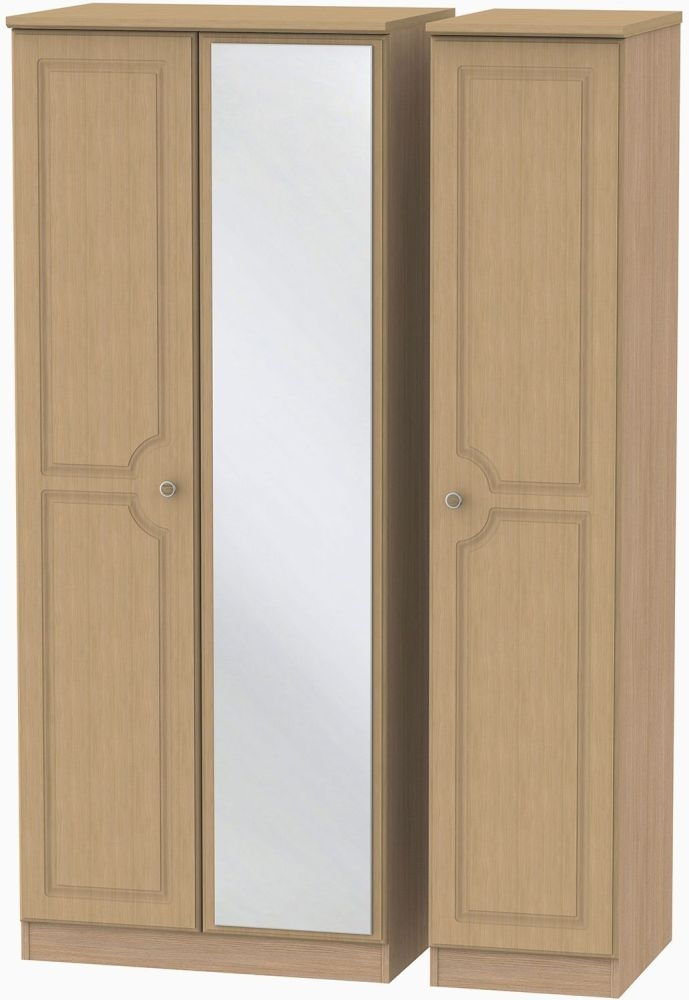 Pembroke Light Oak Triple Wardrobe with Mirror