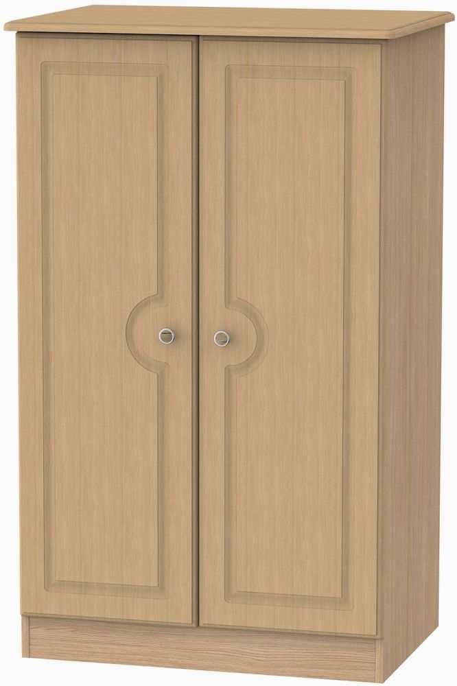 Pembroke Light Oak Wardrobe - 2ft 6in Plain Midi