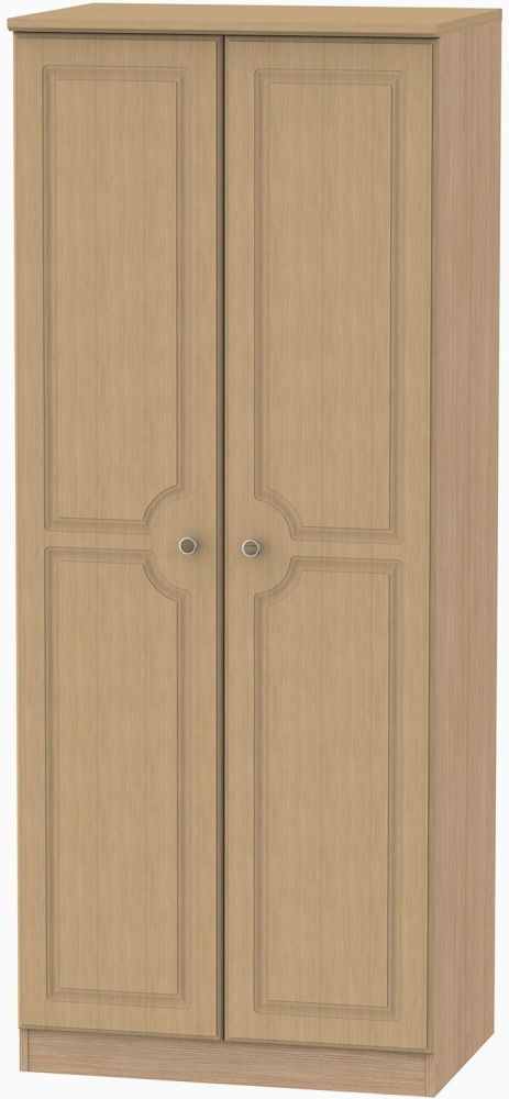 Pembroke Light Oak 2 Door Plain Wardrobe