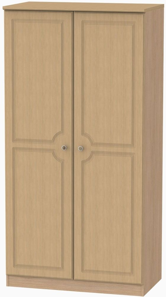 Pembroke Oak 2 Door Plain Wardrobe