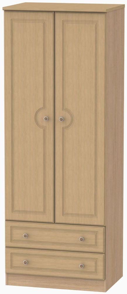 Pembroke Oak 2 Door 2 Drawer Tall Wardrobe