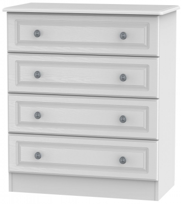 Pembroke White 4 Drawer Wide Chest