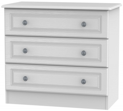 Pembroke White Chest of Drawer - 3 Drawer