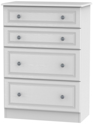 Pembroke White 4 Drawer Deep Chest