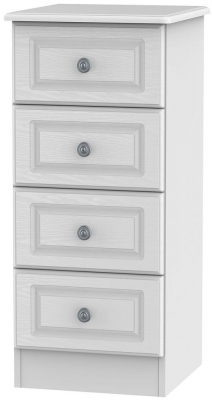 Pembroke White Chest of Drawer - 4 Drawer Locker
