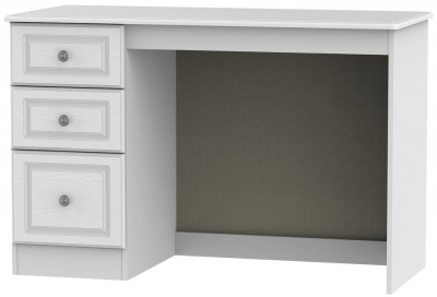 Pembroke White Desk - 3 Drawer