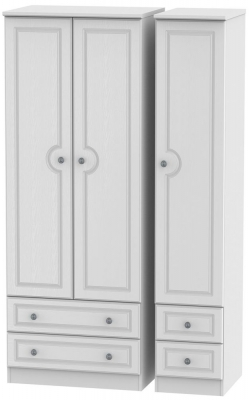 Pembroke White 3 Door 4 Drawer Tall Wardrobe