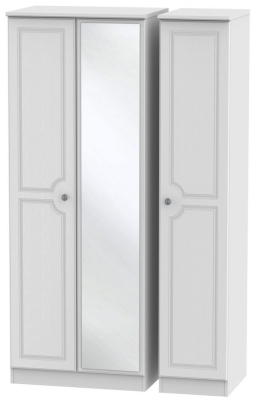 Pembroke White 3 Door Tall Mirror Wardrobe