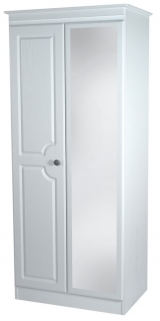 Pembroke White Wardrobe - 2ft 6in Mirror
