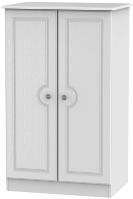 Pembroke White Wardrobe - 2ft 6in Plain Midi