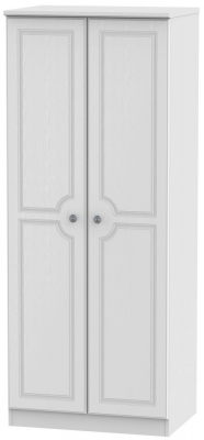 Pembroke White 2 Door 2ft 6in Plain Wardrobe