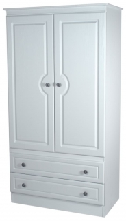 Pembroke White Wardrobe - 3ft 2 Drawer