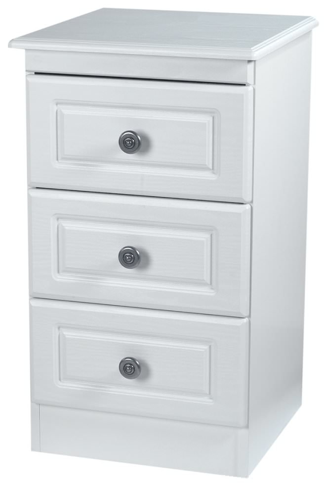 Pembroke White Bedside Cabinet 3 Drawer Welcome Furniture : 3 Pembroke White Bedside Cabinet 3 Drawer from www.choicefurnituresuperstore.co.uk size 660 x 1000 jpeg 105kB