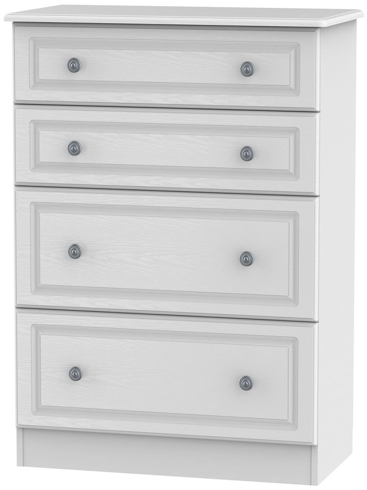 Pembroke White Chest Of Drawer 4 Drawer Deep Welcome