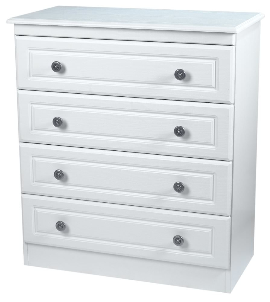 Pembroke White Chest of Drawer - 4 Drawer