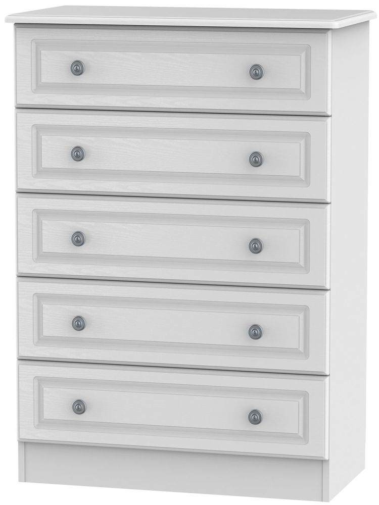 Pembroke White 5 Drawer Chest