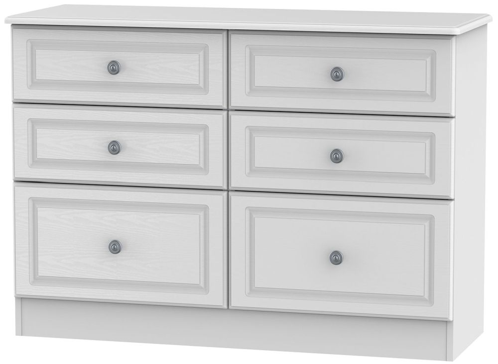 Pembroke White 6 Drawer Midi Chest