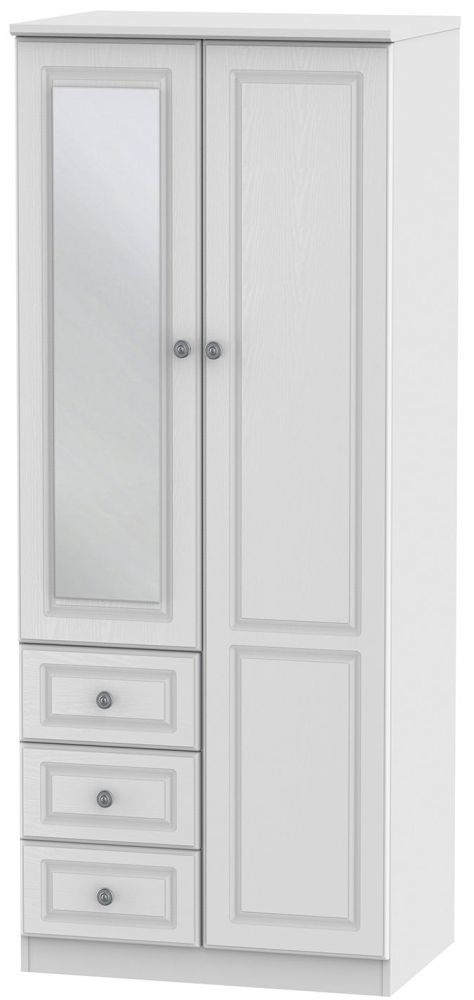 Pembroke White 2 Door 3 Drawer Combination Wardrobe