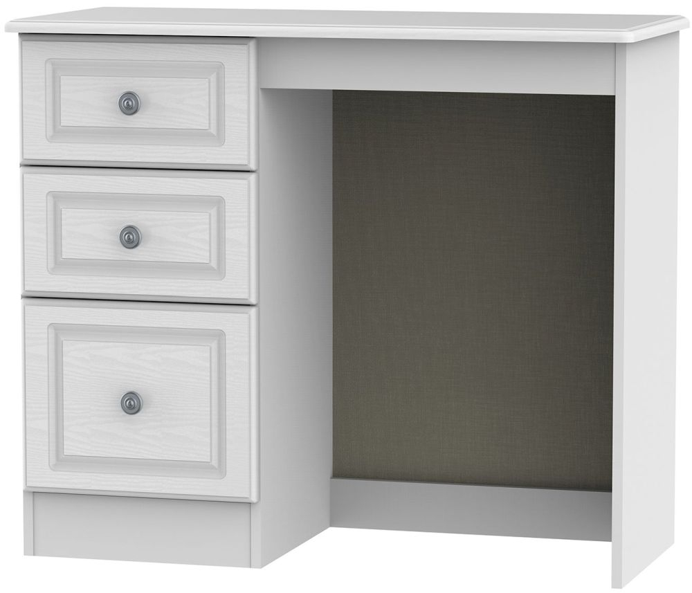 Pembroke White Dressing Table - Vanity Knee Hole | Welcome Furniture