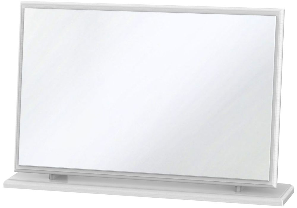 Buy pembroke white mirror large online cfs uk for Large white mirror