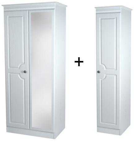 Pembroke White Tall Triple Mirror Wardrobe