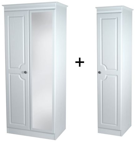 Pembroke White Triple Mirror Wardrobe