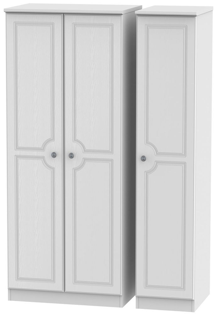 Pembroke White Triple Plain Wardrobe