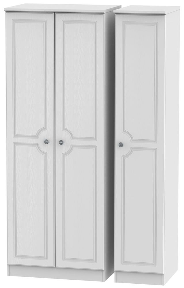 Pembroke White 3 Door Tall Plain Triple Wardrobe