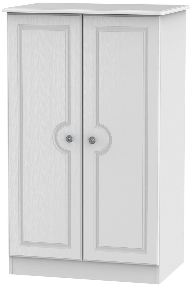 Pembroke White 2 Door Plain Midi Wardrobe