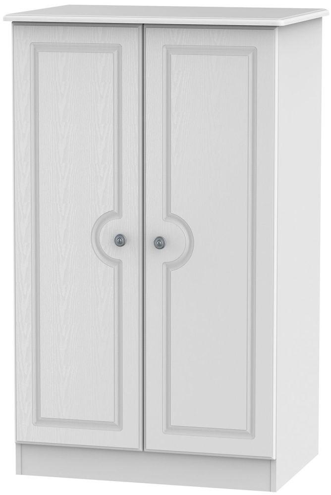 Pembroke White Wardrobe - 2ft 6in Plain Midi