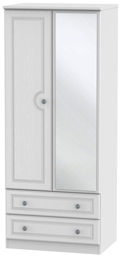 Pembroke White 2 Door Mirror Combi Wardrobe
