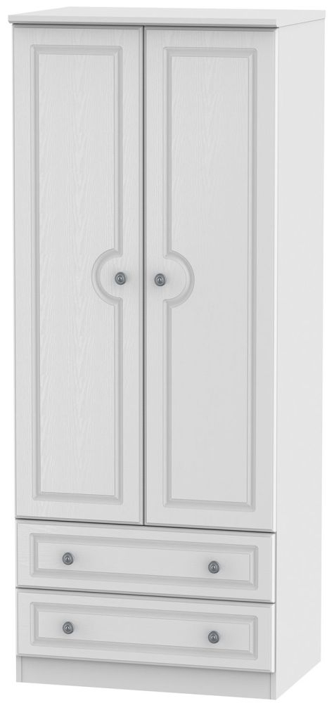 Pembroke White 2 Door 2 Drawer 2ft 6in Wardrobe