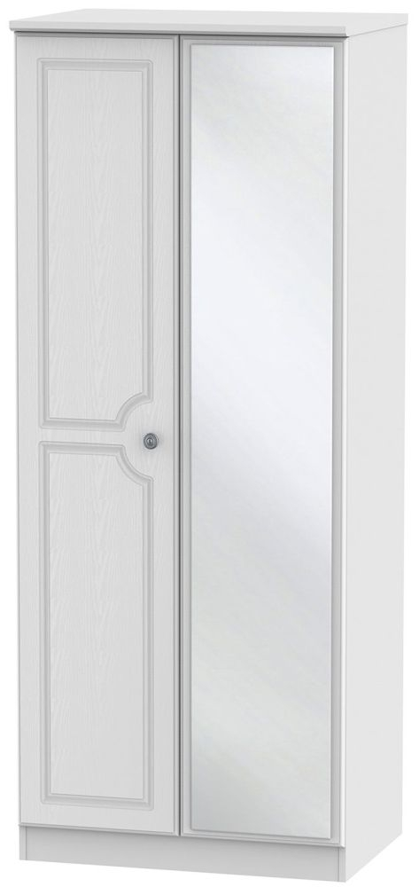 Pembroke White Wardrobe - 2ft 6in with Mirror