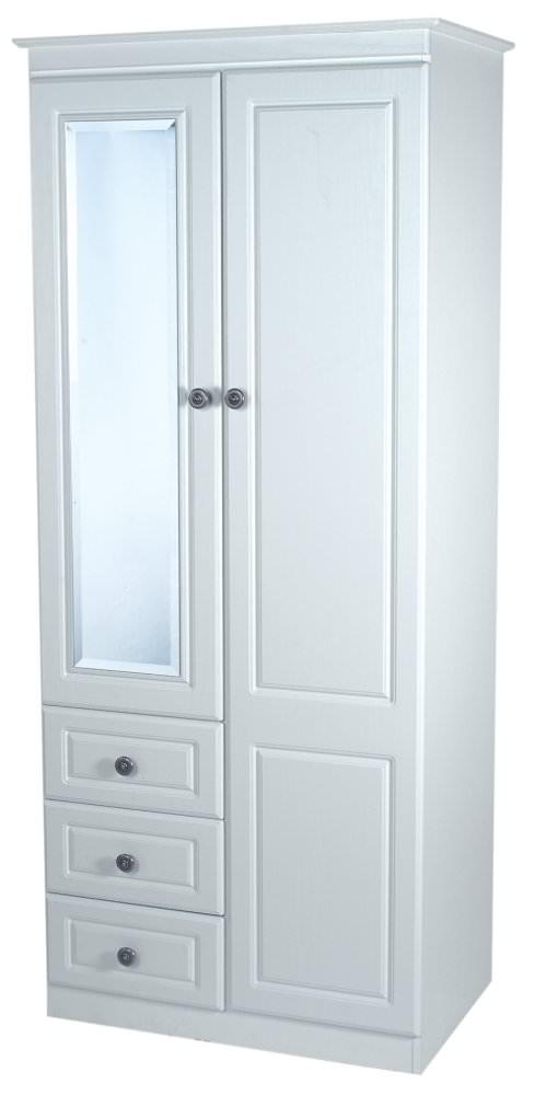 Pembroke White Wardrobe - Combination