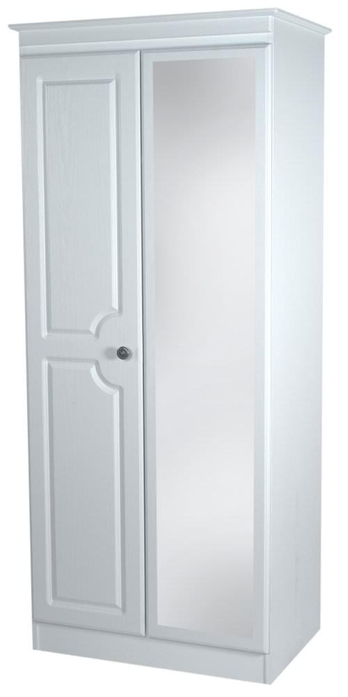 Pembroke White Wardrobe - Tall 2ft 6in Mirror