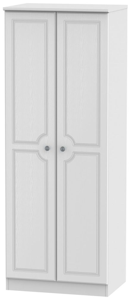 Pembroke White Wardrobe - Tall 2ft 6in Plain